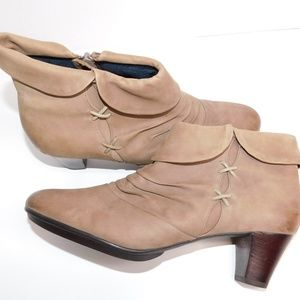 Umberto Raffini Ruched Burnished Suede Bootie